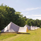 2018 im Freien Baumwollluxuxsegeltuch-Familien-kampierende Rundzelte