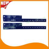 催し物3タブのビニールプラスチックリスト・ストラップIDのブレスレット(E6070-3-4)