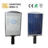 réverbère solaire de 15W DEL avec le détecteur de mouvement sensible (HFK4-15)