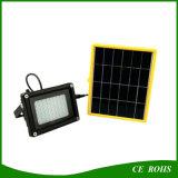 2 años de la garantía de la pesca de la lámpara 10W LED de luz de inundación solar portable con el panel potencia solar