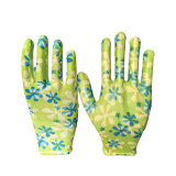 정원을%s 새로운 Design Polyester Nitrile Gloves