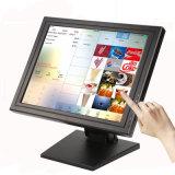 15 POS 시스템을%s 인치 TFT VGA DVI USB 접촉 스크린 LCD 텔레비젼 모니터