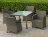 Mobilia esterna del giardino di prezzi di disegno poco costoso della parte superiore che pranza la mobilia stabilita del patio (YT020-1)