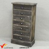 Cabina de almacenaje hecha a mano de madera elegante lamentable