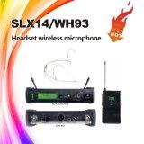 Micrófono sin hilos del receptor de cabeza de Slx, micrófono 800MHz de la frecuencia ultraelevada del condensador a 820MHz