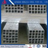 Tubo d'acciaio quadrato galvanizzato tuffato caldo per materiale da costruzione