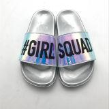 2017 nouvelles femmes faites glisser les sandales PU matériel supérieur chaussures en caoutchouc