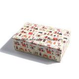 Personnaliser la boîte-cadeau emboîtée par papier de empaquetage d'impression de modèle