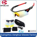 Style de la jeunesse Anti fort éblouissement Sport cycliste lunettes de soleil polarisées 5 lentille objectif interchangeable
