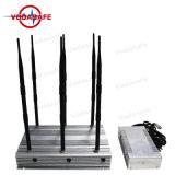 CDMA GSM 3G 4G banda completa de la señal de celular GPS Bluetooth Lojack Jammer, Desktop 3G 4G WiFi GPS Lojack Jammer señal ajustable