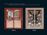 Puertas de aluminio del metal de las puertas de las puertas del marco de las puertas deslizantes