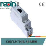 contator modular 2p do agregado familiar da C.A. 25A com controle manual
