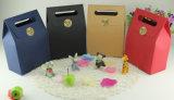 De bruine het Winkelen van het Document van het Af:drukken van Kraftpapier Zak van de Verpakking van de Juwelen van de Carrier van het Document van de Kunst van de Hand van de Gift Promotie Met een laag bedekte Kosmetische met Katoenen Nylon Kabel (d44)