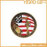 Qualität kundenspezifische Seiten-2D Münzen des Metallzwei für Andenken (YB-c-004)