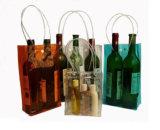 Umweltfreundliches Transparent PVC Wine Bag mit Button