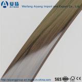 Зерно сплошного цвета/деревянных/подгонянное картиной кольцевание края PVC для мебели