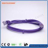cuerda de corrección de 24AWG UTP Cat5e con el enchufe 4pair
