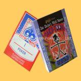 Papel negro de encargo de base que hace publicidad de tarjetas que juegan del póker