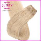 方法金髪の自然でまっすぐな人間の毛髪の拡張