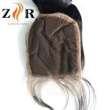 Afrouxar o fechamento humano brasileiro da parte superior do laço do cabelo do Virgin de Remy da onda