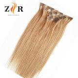 I commerci all'ingrosso vendono al dettaglio la clip di trama della pelle dell'unità di elaborazione in capelli di Remy di estensione dei capelli umani