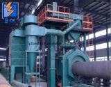 Tubo de acero de transportadores de rodillos de la pared interior/exterior Granallado Máquina/máquina de chorro de arena