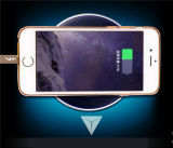 Caricatore senza fili universale senza fili chiaro del telefono delle cellule del Qi di notte