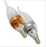 E27 Ce y Rhos 3W LED de luz de la vela