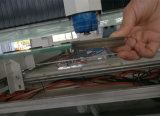 Máquina de cristal triaxial horizontal del ribete del CNC para el vidrio de los muebles