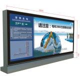 Large Size Airport Indoor Publicidad Caja de luz de vidrio templado