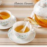 Conjunto de té de cerámica de la cena de la porcelana del conjunto de café del vajilla de la porcelana