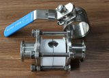 3PC Clamped Estremità Ball Valve (Fully Wrapping Ball)