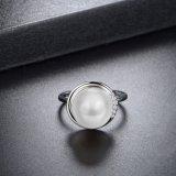 대중적인 여자 둥근 모양 수정같은 진주 반지