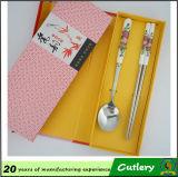Керамический комплект Cutlery Flatware нержавеющей стали ручки