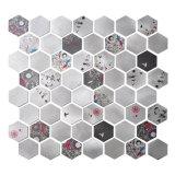 ¡2017 nuevo! Mosaico del metal del hexágono con el modelo