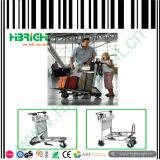 Trolley do aeroporto de bagagem com três rodas
