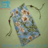 Tissu de toile de coton de la mousseline personnalisé Sac avec lacet de serrage avec logo personnalisé imprimé