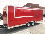 Chariot mobile de nourriture de café de caravane de Remorque Churros de cuisine d'Exoprt