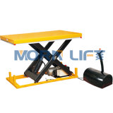 Маленький электрический гидравлический подъемный стол ножничного типа