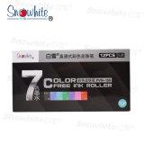 Snowhite Pvn159 Rolo de tinta líquida Caneta com ponta de agulha de tinta de 7 cores
