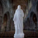 Marmeren Standbeeld van Jesus met het Hoogstaande, Godsdienstige Beeldhouwwerk van het Standbeeld