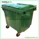 510 Bak van het Afval Wheelie van de Vuilnisbak van de Lading van kg de Plastic Communautaire