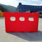 Hongqiao rote Rotationswassergefüllte Sperren-Straßenrand-Plastiksperre