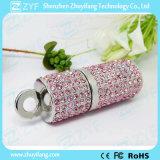 口紅の吊り下げ式のダイヤモンドの宝石類USBのペン駆動機構(ZYF1909)