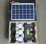 Off-Grid avec kit d'éclairage solaire Chargeur Mobile 3W 4W 5W l'énergie solaire Système avec 3PCS lampe solaire