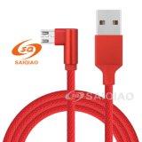 Trenzado de codo de cable de datos de carga