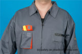 Combinaison bon marché de chemise de qualité de sûreté du polyester 35%Cotton de 65% longue (BLY2007)