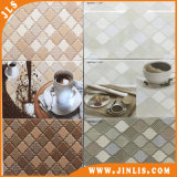 Materiales de Construcción Moldeado Café Brown Star Bathroom Azulejos De Pared De Cerámica