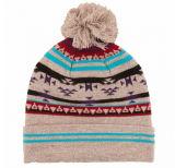 2017 gris cálido invierno Pom Pom brazalete tejido Beanie Cap
