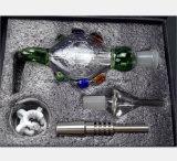 Grüner Nektar-Sammler-gesetztes Glaswasser-Rohr